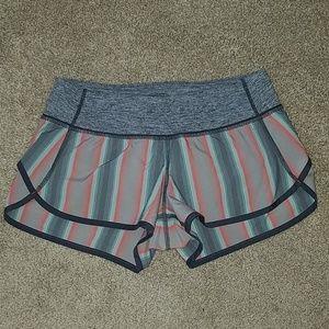 Lululemon Striped Athletic Shorts